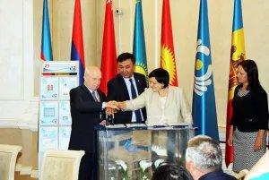 Церемония гашения почтовой марки, выпущенной к 25-летию СНГ, прошла в Минске