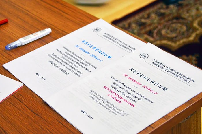 Референдум по изменениям и дополнениям в Конституцию Азербайджанской Республики начался
