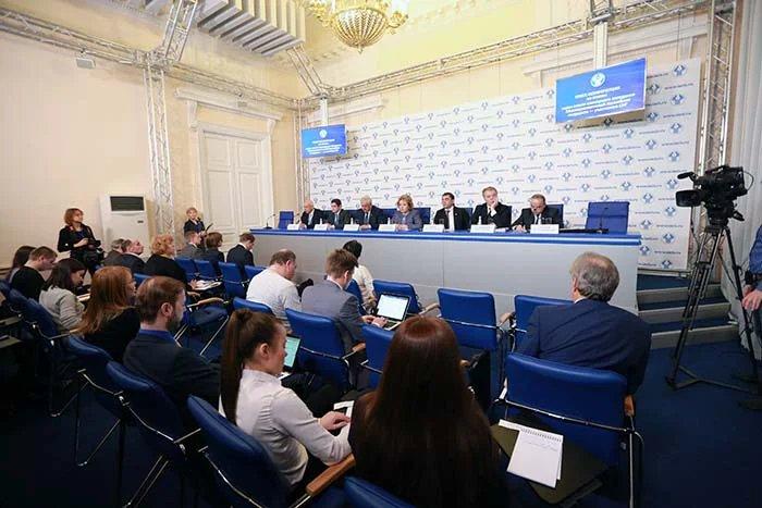 Прошла пресс-конференция по итогам сорок пятого пленарного заседания МПА СНГ