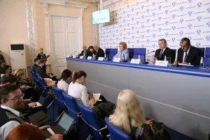 Прошла пресс-конференция по итогам заседания Совета МПА СНГ и сорок шестого пленарного заседания МПА СНГ