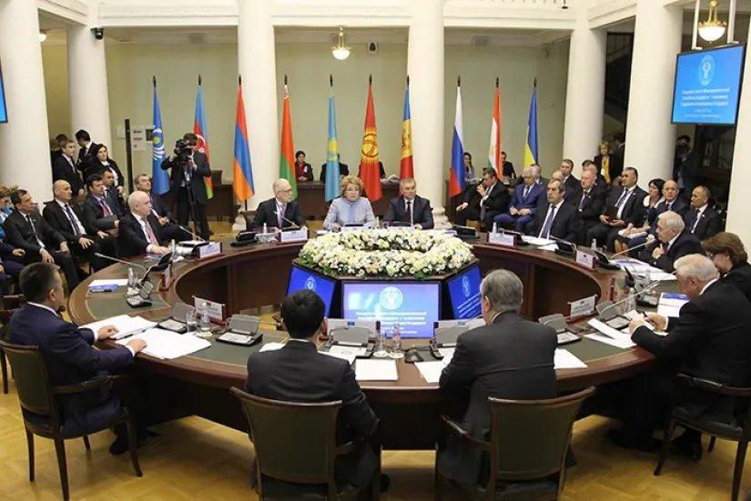Заявление о 25-летии Межпарламентской Ассамблеи приняли на заседании Совета МПА СНГ