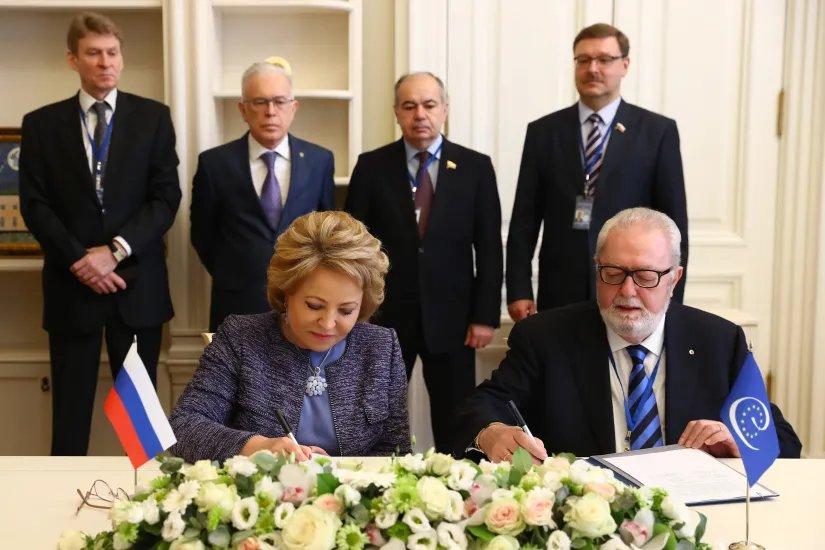 Совместное заявление Председателя Совета МПА СНГ и Председателя ПА СЕ было подписано на полях весенней сессии