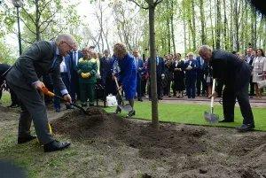 Участники VIII Невского международного экологического конгресса посадили деревья в Таврическом саду