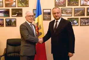Президент Республики Молдова Игорь Додон посетил штаб-квартиру МПА СНГ