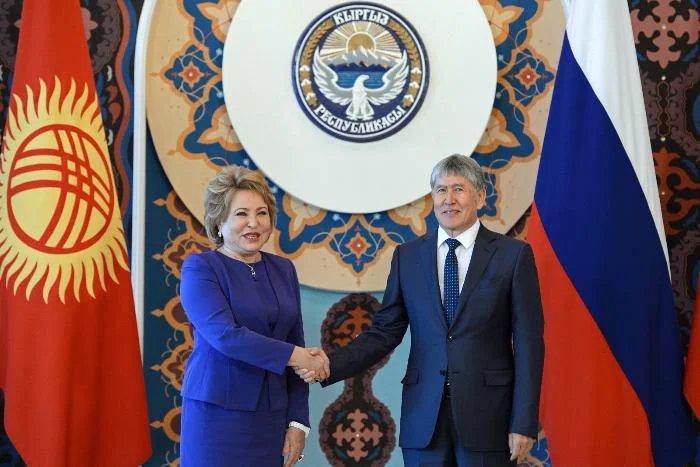 Председатель Совета МПА СНГ Валентина Матвиенко встретилась с Президентом Кыргызской Республики Алмазбеком Атамбаевым
