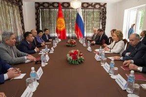 Валентина Матвиенко провела двустороннюю встречу с Чыныбаем Турсунбековым