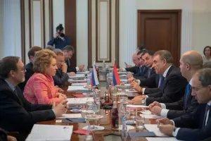 Валентина Матвиенко  и Ара Баблоян обсудили вопросы межпарламентского сотрудничества