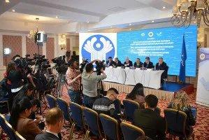 Наблюдатели от МПА СНГ приняли участие в итоговой пресс-конференции по результатам наблюдения за выборами Президента Кыргызской Республики