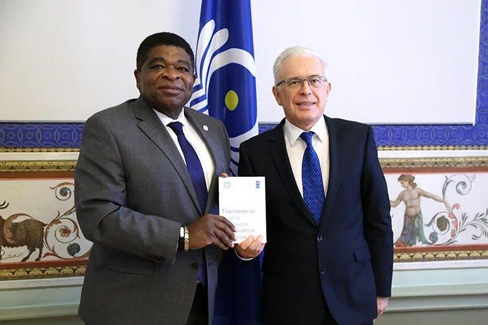 Алексей Сергеев встретился с Генеральным секретарем Межпарламентского союза Мартином Чунгонгом