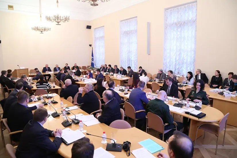 В Таврическом дворце состоялось заседание Объединенной комиссии при МПА СНГ по гармонизации законодательства в сфере безопасности и противодействия новым вызовам и угрозам