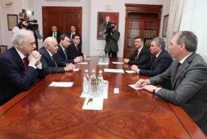 В Москве состоялась встреча членов Совета МПА СНГ Октая Асадова и Вячеслава Володина