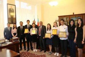 Бакинский филиал МИМРД МПА СНГ наградил победителей конкурса сочинений на тему «Гейдар Алиев и независимый Азербайджан»
