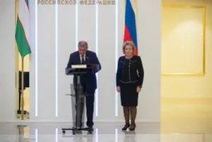 Валентина Матвиенко:«Хотелось бы надеяться, что узбекские коллеги присоединятся для начала в качестве наблюдателей к работе МПА СНГ»
