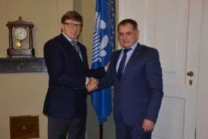 Юрий Осипов встретился с заместителем председателя МТРК «Мир» Владимиром Казарезовым
