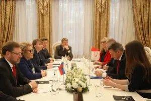 Председатель Совета МПА СНГ провела встречу с Президентом Международного комитета Красного Креста