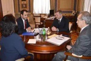 Дмитрий Кобицкий встретился с главой Бюро Международной организации по миграции в Москве Абдусаттором Эсоевым