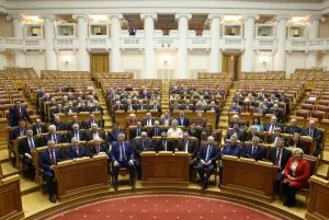 В Таврическом дворце проходят торжественные мероприятия, посвященные 25-летию парламента Ленинградской области