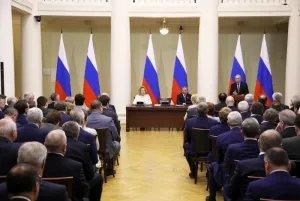 В Таврическом дворце прошла встреча Владимира Путина с членами Совета законодателей Российской Федерации