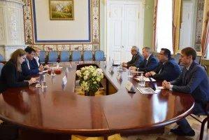 В Таврическом дворце прошла встреча Дмитрия Кобицкого с вице-президентом ОСНАА Талаой Аль-Атласси