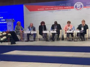 Екатерина Голоулина приняла участие в работе круглого стола «Международное сотрудничество для регионального развития»