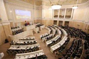 В Мариинском дворце состоялось торжественное заседание, посвященное 25-летию петербургского парламента