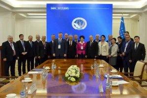 Группа наблюдателей от МПА СНГ посетила Центральную избирательную комиссию Республики Узбекистан