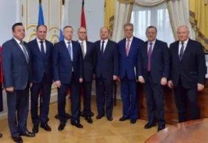 Ион Липчиу принял участие во встрече мэра Кишинева и Губернатора Санкт-Петербурга