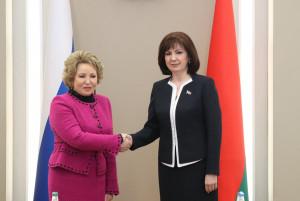 Валентина Матвиенко: Парламентарии должны поддерживать стремление России и Беларуси к наращиванию партнерских связей