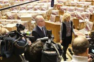 Алексей Сергеев встретился с представителями СМИ в Думском зале Таврического дворца
