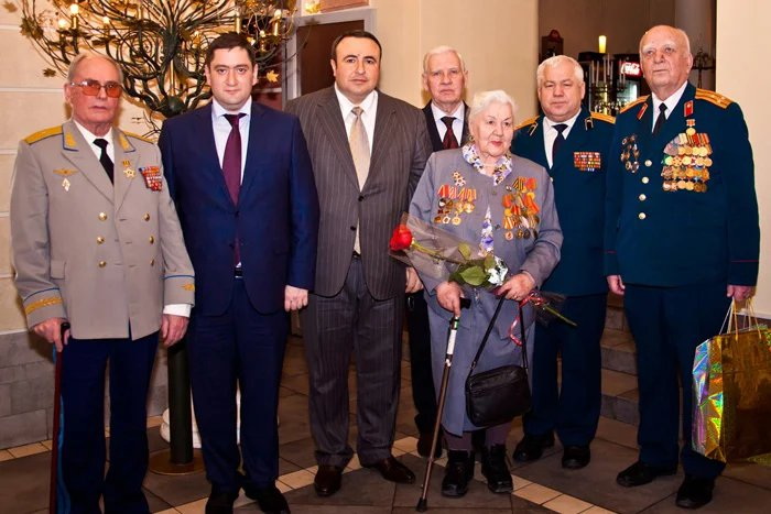 Hayk Chilingarian and Grachya pogosian to greet the veterans on the 23 February