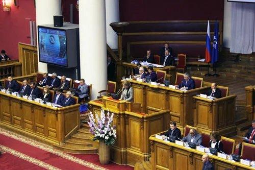 Председатель Совета Федерации Федерального Собрания Российской Федерации Валентина Матвиенко обращается с приветственной речью к участникам конгресса