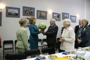 Veterans meet Valentina Matvienko at a tea-party